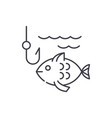 fishing line icon concept fishing linear vector image vector image