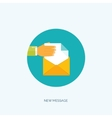 Flat envelope Emailing and vector image vector image