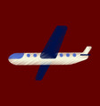 flat icon in shading style aircraft vector image vector image