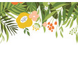floral with place for text vector image vector image