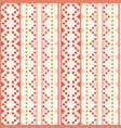 folk embrodery pattern vector image vector image