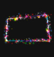 frame in the frame of multi-colored lights vector image vector image