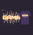game graphic t-shirt design typography print vector image