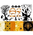 Happy Halloween background Set of seamless vector image vector image