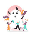 happy halloween concept for web banner vector image