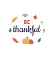happy thanksgiving day card round composition vector image