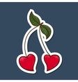 Heart shaped cherries vector image vector image