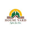 home yard logo in forest vector image vector image