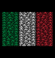 italy flag collage of military tank items vector image