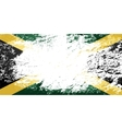 Jamaican flag Grunge background vector image vector image