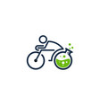 lab bike logo icon design vector image vector image
