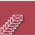 letter mail symbol vector image vector image