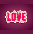lettering with word love vector image