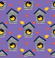 little birds seamless pattern vector image vector image