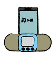 music player device icon vector image vector image