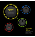 neon infographic circle background2 vector image