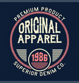 original apparel superior vector image vector image