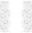 peony flower border vector image vector image