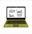 realistic laptop display company or scientific vector image vector image