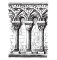 romanesque arches an architectural style of vector image vector image