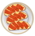 sandwiches with a salmon vector image vector image