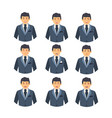 set of business characters people with different vector image