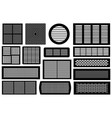 set of different ventilations grilles vector image