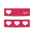 Set of two love cards vector image vector image