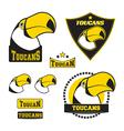 set toucan logos vector image