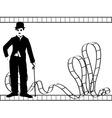 Silhouette chaplin vector image