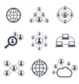 Social network with people symbols icons vector image