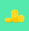 stack gold coins money vector image vector image