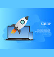 startup business concept design template vector image