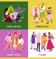 street fashion concept icons set vector image