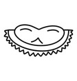 tasty durian slice icon outline style vector image vector image