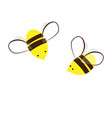 too sweet and busy bees cartoon vector image vector image