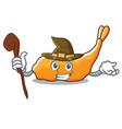 witch tempura mascot cartoon style vector image vector image