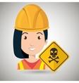 woman worker symbol danger vector image