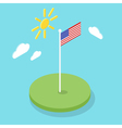 Isometric 3d icon of American flag vector image