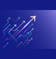 abstract arrow group moving up motion vector image
