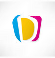 abstract icon based on the letter d vector image