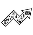 arrow england concept vector image vector image