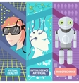 Artificial intelligence reality virtual and vector image vector image