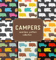 Auto Travel Seamless Patterns Collection vector image vector image