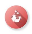 baroque red flat design long shadow glyph icon vector image