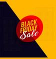 black friday sale modern banner design vector image vector image