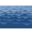 blue mountains in fog vector image vector image