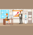 businesswoman and personal assistant vector image vector image