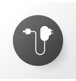 charger icon symbol premium quality isolated plug vector image vector image