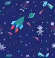 childish cosmos seamless pattern vector image
